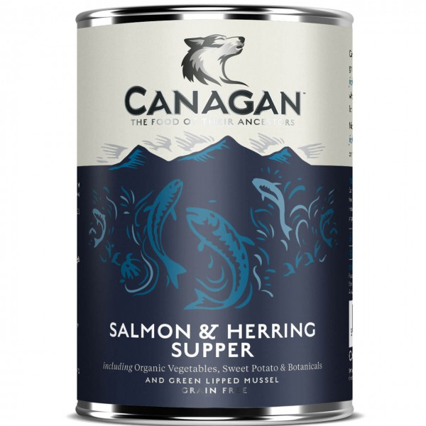 Canagan Salmon & Herring Supper Hunde Nassfutter 6x 400 g