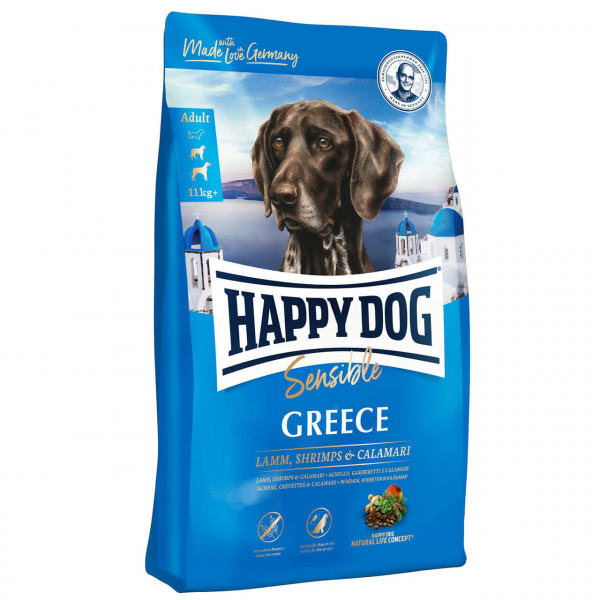 Happy Dog Sensible Greece Lamm, Shrimps & Calamari Hunde Trockenfutter