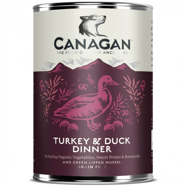 Canagan Turkey & Duck Dinner Hunde Nassfutter 6x 400 g