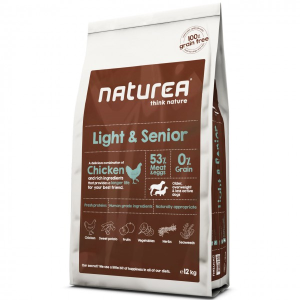 Naturea Grain Free Light & Senior Chicken Hunde Trockenfutter
