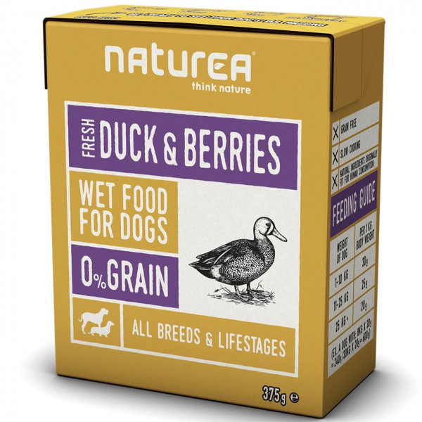 Naturea Fresh Duck & Berries Hunde Nassfutter 12x 375 g