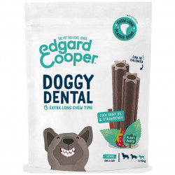 Edgard & Cooper Doggy Dental Minze & Erdbeere Hunde Snacks