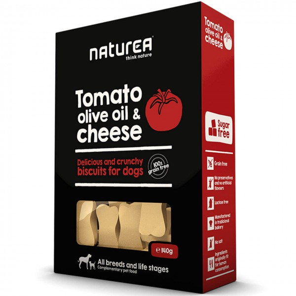 Naturea Biscuits Tomato, Olive Oil & Cheese Hunde Snack 3x 140 g