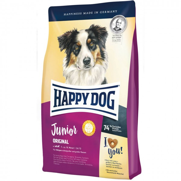 Happy Dog Junior Original Hunde Trockenfutter