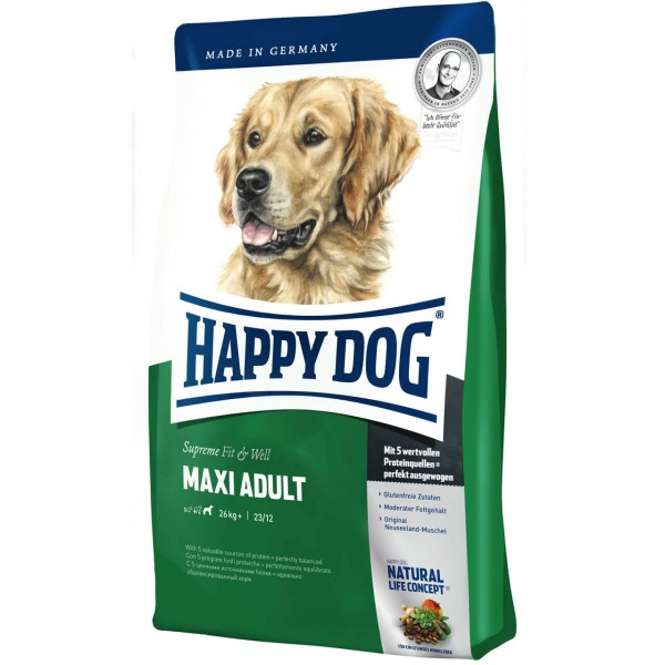 Happy Dog Supreme Fit & Well Maxi Adult Hunde Trockenfutter
