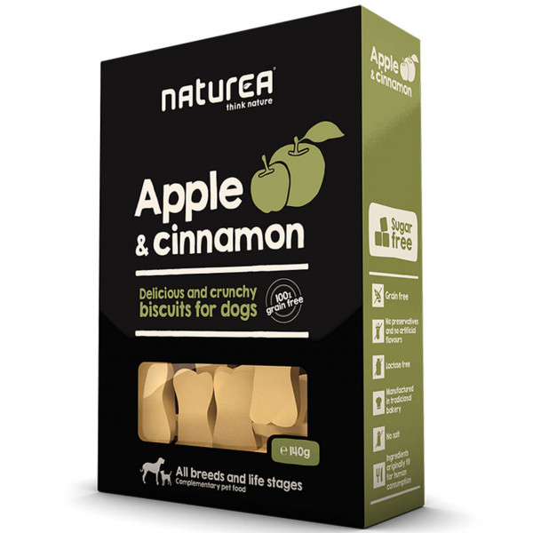 Naturea Biscuits Apple & Cinnamon Hunde Snack 2x 140 g