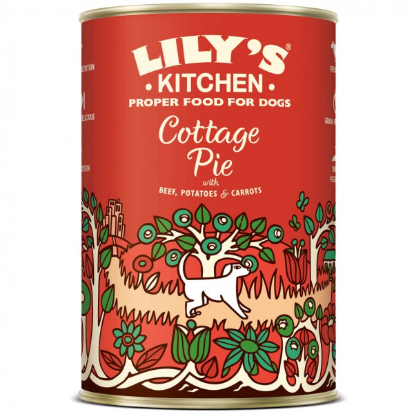 Lily's Kitchen Cottage Pie Hunde Nassfutter 6x 400 g