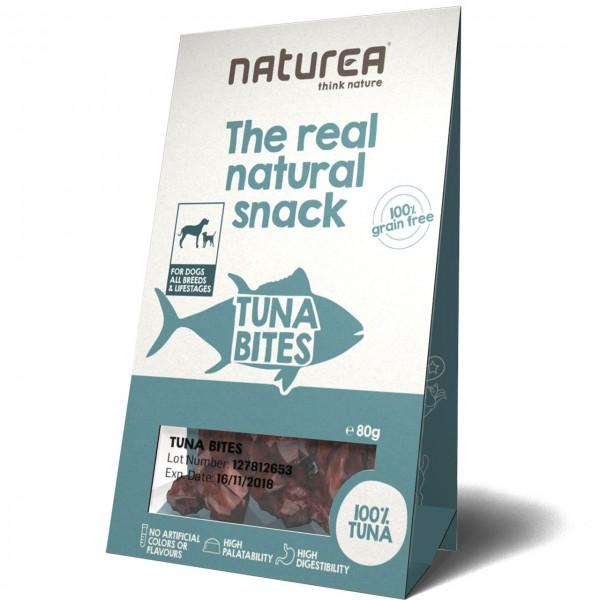 Naturea The real natural snack Tuna Bites Hunde Snack