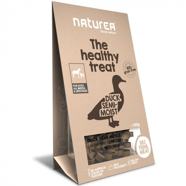Naturea the healthy treat Duck Semi-Moist Hunde Snack