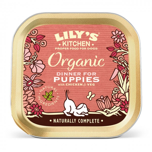 Lily's Kitchen Organic Puppy Chicken Dinner Hunde Nassfutter