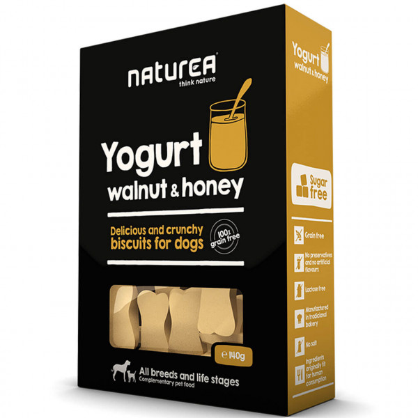 Naturea Biscuits Yogurt, Walnut & Honey Hunde Snack 2x 140 g