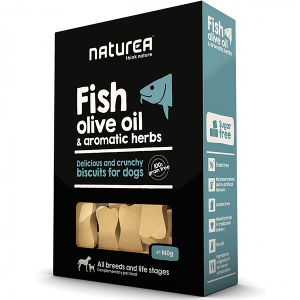 Naturea Biscuits Fish, Olive Oil & Herbs Hunde Snack