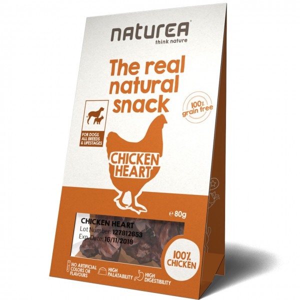 Naturea The real natural snack Chicken Heart Hunde Snack