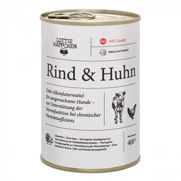 Lottis Häppchen Niere (Low Protein) / Rind & Huhn Hunde Nassfutter