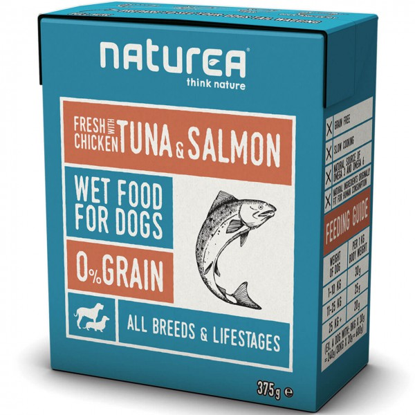 Naturea Fresh Chicken with Tuna & Salmon Hunde Nassfutter 12x 375 g