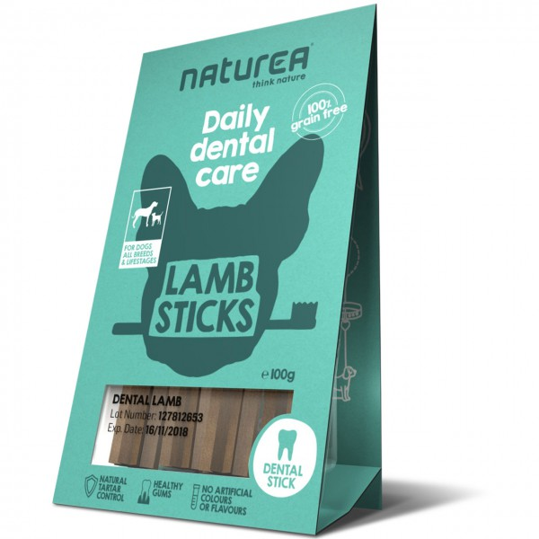 Naturea Daily Dental Care Lamb Sticks Hunde Snack
