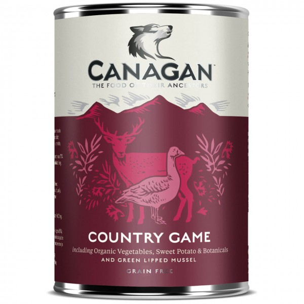 Canagan Country Game For Dogs Hunde Nassfutter 6x 400 g