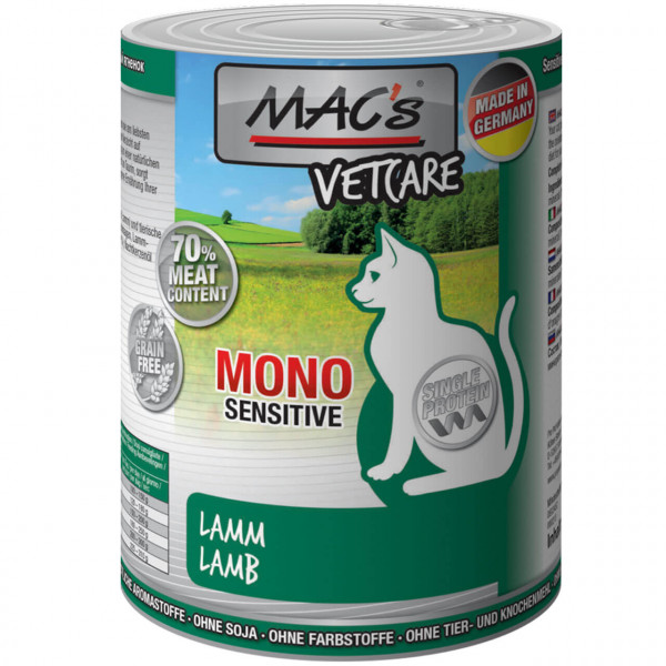 MAC's Cat Mono Sensitive Lamm Katzen Nassfutter