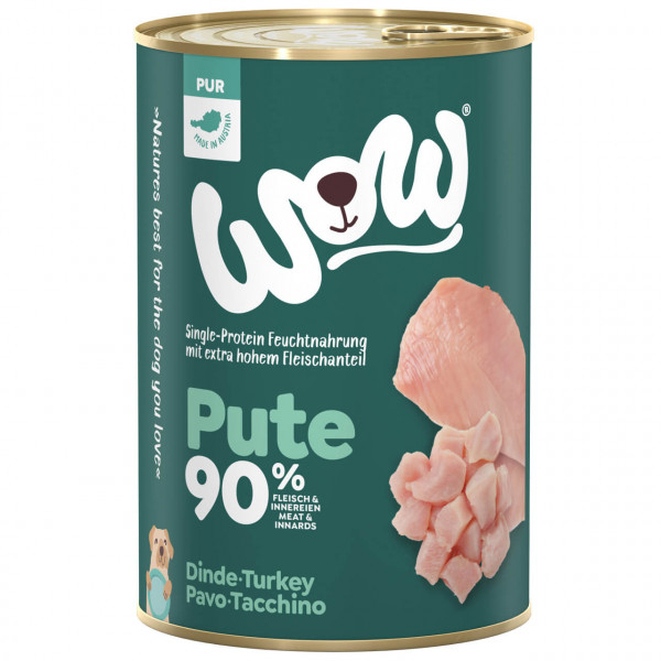 Wow Pur Pute 90% Hunde Nassfutter
