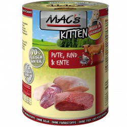 MAC's Cat Kitten Pute, Rind & Ente Katzen Nassfutter